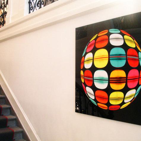 ChromaLuxe Kunstdruck in Privatwohnung
