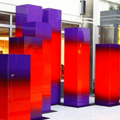 ChromaLuxe 3D-Objekte (Kunst am Bau)