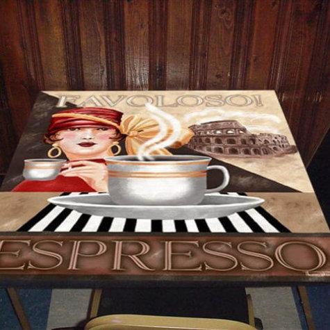 Coffeetable mit ChromaLuxe-Print